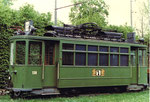 Der Trammotorwagen Be 2/2 Nr. 138 in der Abstellanlage Eglisee, 1972