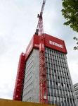 In den Jahre 1957/58 erbaut und im Jahr 2017 abgerissen (!!!) - das 53 Meter hohe Geigy-Hochhaus.