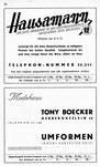 26) Drogerie Hausamann   /    Modehaus Tony Boecker