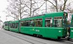 Trammotorwagen Be 4/6 Nr.667 an der Haltestelle Kannenfeldplatz, 2016