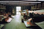 Blick an einem Sonntagmorgen in die leere Halle 7, 1986 (Diese Halle wurde zur heutigen Musical-Halle umgebaut)