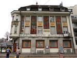 Das Restaurant Schiff an der Dorfstrasse-Hochbergersplatz mit den schönen Wandmalereien von 1927 des Basler Künstlers Burkhard Mangold (1873-1950) 2014