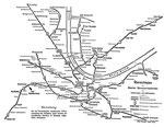 Übersichtsplan der Basler Strassenbahnen ca.1910