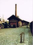 Der Bahnhof St.Johann mit der Verladerampe für Güter, 1983