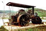 Die Dampfwalze der Firma Schafir & Mugglin in Frenkendorf nun im Jahr 1975