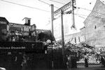 Abbruch der Häuser «Strahm», Zigarrenladen «zem blaue Dunst» und «Villars» an der Greifengasse, 1985