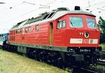 """Die DB-Diesellokomotive """"Ludmilla"""" aus der ehem. DDR -  1999 zu Besuch in Basel."""