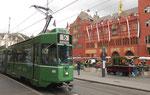 Trammotorwagen Be 4/6 Nr.685 an der Haltestelle Marktplatz, Mai 2016