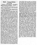National Zeitung, Saison 1940 Bericht zum Fussballspiel FC Basel - Young Fellows