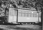 Der Trammotorwagen Be 2/2 Nr.171 in der Abstellanlage Eglise, 1971