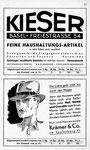 27) Kieser Haushaltungs-Artikel und Krämer Hut-& Herrenmode
