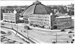 Ansichtskarte Basel Grossmarkthalle (Rückseite der Karte durch aufkleben beschädigt: Verlag & Photo ?)