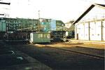 Die Depotanlagen des Bahnhof Basel SBB mit der interessanten Lok-Verschiebebühne, 1978