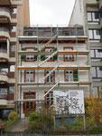 Das schöne Wohnhaus mit Sicht auf den Rhein am Unteren Rheinweg 88 im Kleinbasel kurz vor dem Abbruch, 2015 (Das Ergebnis von  Wohnraum-Spekulation)