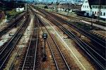 Die Ausfahrt im Bahnhof Weil am Rhein Richtung Basel 1982