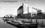 Ansichtkarte 310 Basel Kleinhüninger Rheinhafen (Rückseite der Karte durch aufkleben beschädigt: Verlag & Photo ?)