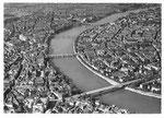Ansichtskarte Serie Fliegeraufnahmen Basel - Die vier Rheinbrücken (Luftphoto Aviatik beider Basel)
