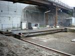 Die Eisenbahn-Verschiebebühne der SATRAM und NEPTUN im Hafenbecken 1, 2010
