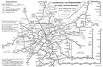Linienführungs- und Taxgrenzenplan der BVB 28.November 1960