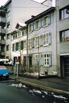 Eine Häuserreihe am mittleren Bläsiring im Jahre 1983