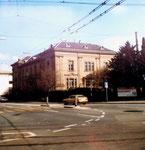 Das Gebäude des Botanischen Gartens an der Schönbeinstrasse 1983