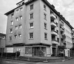 Das Eckaus der Molkerei Manser (Ecke Vogelsangstrasse und Peter-Roth-Strasse) kurz vor dem Abbruch, Foto? Franz Bachmann ?