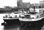 Blick von der Dreiländerecke ins Hafenbecken 1, 1974