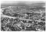 Ansichtskarte SR 168 Basel. (Flugaufnahme Swissair Photo AG- Verlag Beringer & Pampaluchi Zürich)