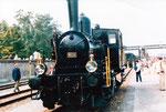 Rangier-Tenderlokomotive «Tigerli» der SBB Nr.8532 während einer Ausstellung beim Bahnhof Wolf. Diese Dampflok fährt auf der Kandertalbahn zwischen Haltingen und Kandern