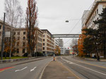 Die Klybeckstrasse mit den Gebäuden der NOVARTIS (früher CIBA und Ciba-Geigy), 2016