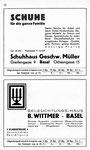 42) Schuhaus Geschw.Müller   /    Beleuchtungs-Haus B.Wittmer