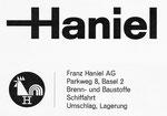 Inserat der «Franz Haniel AG Basel» in der Zeitschrift «Strom und See» 1964