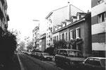 Eine schöne Einfamilien-Häuserreihe im oberen Bläsiring, Hausnummer 137 der Familien Botsch und Baumann, dann links davon die Häuschen der Familien Buser und Handschin,1983