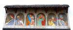 Das Wandbild der Eheverkündigungen beim Münsterplatz des Basler Kunstmalers Niklaus Stöcklin (1896 - 1982), 2015