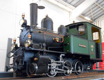 Die gleiche Dampflok Nr.6 der Waldenburger-Bahn im Verkehrsmuseum in Luzern im Jahre 2015