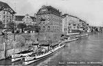 Ansichtskarte Basel. Schifflände - Bale. Le déparcadère