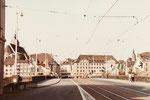 Die Mittlere Brücke mit Blick gegen die Grossbasler Seite, 1983