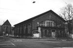 Die grosse Kasernenturnhalle beim Klingental und der Klybeckstrasse, 1983