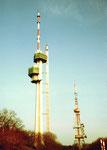 Der neue Chrischona-Fernsehturm im Bau, 1982