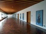 Der 1.Stock des Kollegiengebäude der Universität Basel mit vielen Bildern von Niklaus Stöcklin (1896-1982), 2013