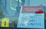 Hinweis in der Führerkabine des Trammotorwagens Be 4/6 Nr.668 im April 2017