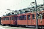 Die Dienstfahrzeuge Nr. 2060 und Nr. 2017 in der Abstellanlage hinter dem Depot Wiesenplatz, 1972