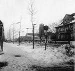 Die Schwarzwaldallee und der Bad.Bahnhof im strengen Winter 1962