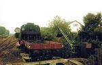 Die kleine Bekohlungsanlage im Bahnhof Riegel im Jahre 1975