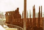 Die Rheinhafen-Dampflokomotiven E 3/3 der Schweizerischen Reederei während des Rangierdienstes in der Westquaistrasse, 1971