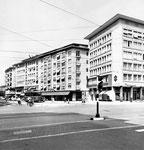Claraplatz mit Blick in Rebgasse (rechts das Restaurant Fährimaa) 1959