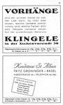 35) Vorhänge Klingele   /    Konditorei St.Alban