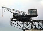 Der grosse, schnelle Kran «COAL» der Kohlenversorgungs-AG im Hafenbecken 2, 1989