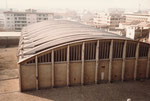 Blick aufs Dach der Basler Halle 8 im Jahre 1975