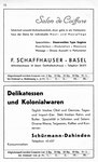 54) F.Schaffhauser Salon de Coiffeur   /    Delikatessen&Kolonialwaren Schürmann